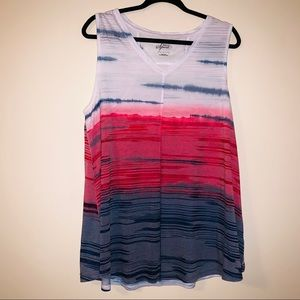 Red white and blue tank